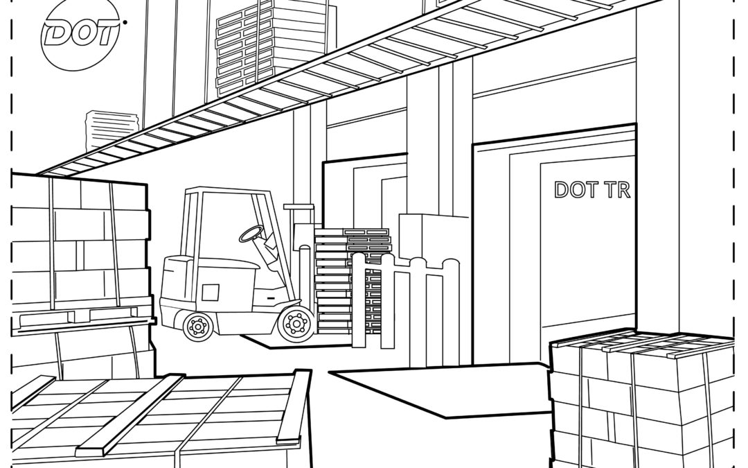 #YouAreEssential Warehouse Coloring Page